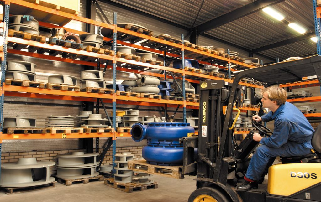 Spare parts on stock