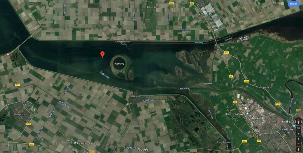Overview of the 'Ketelmeer' (Credit: Google Maps).