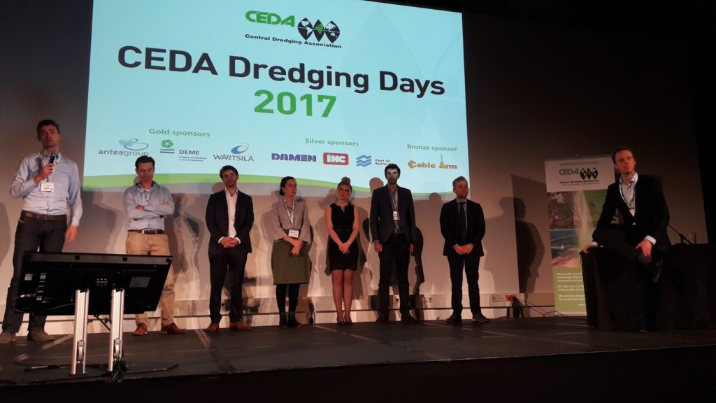Young CEDA pitch talks at the CEDA Dredging Days 2017 (Credit: CEDA)