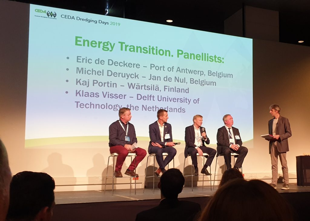 Panel discussion at the CEDA Dredging Days 2019 with Mike van der Vijver