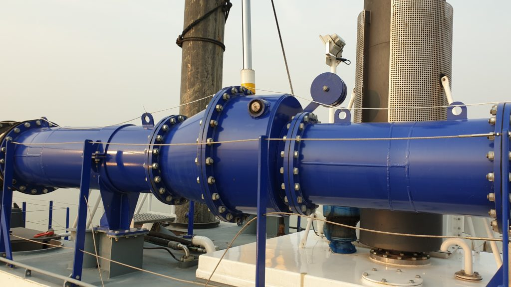 On board discharge non-return valve
