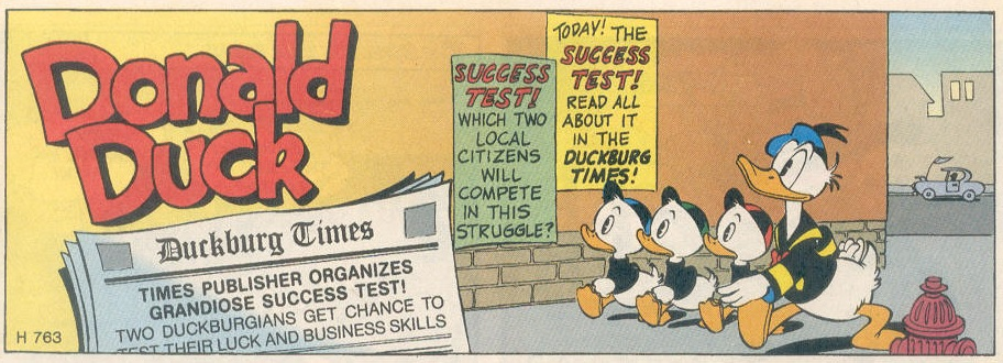 Opening scene of 'Muddy Fine Business' or 'Success Test' (Credit: Disney)