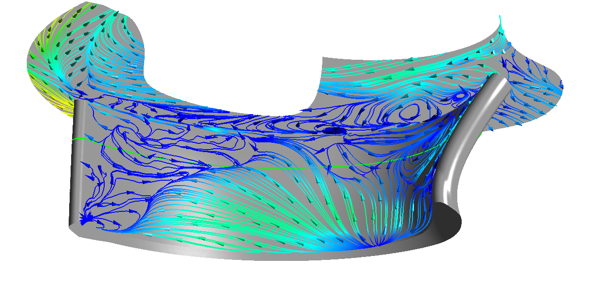 CFD result for the wear experiments