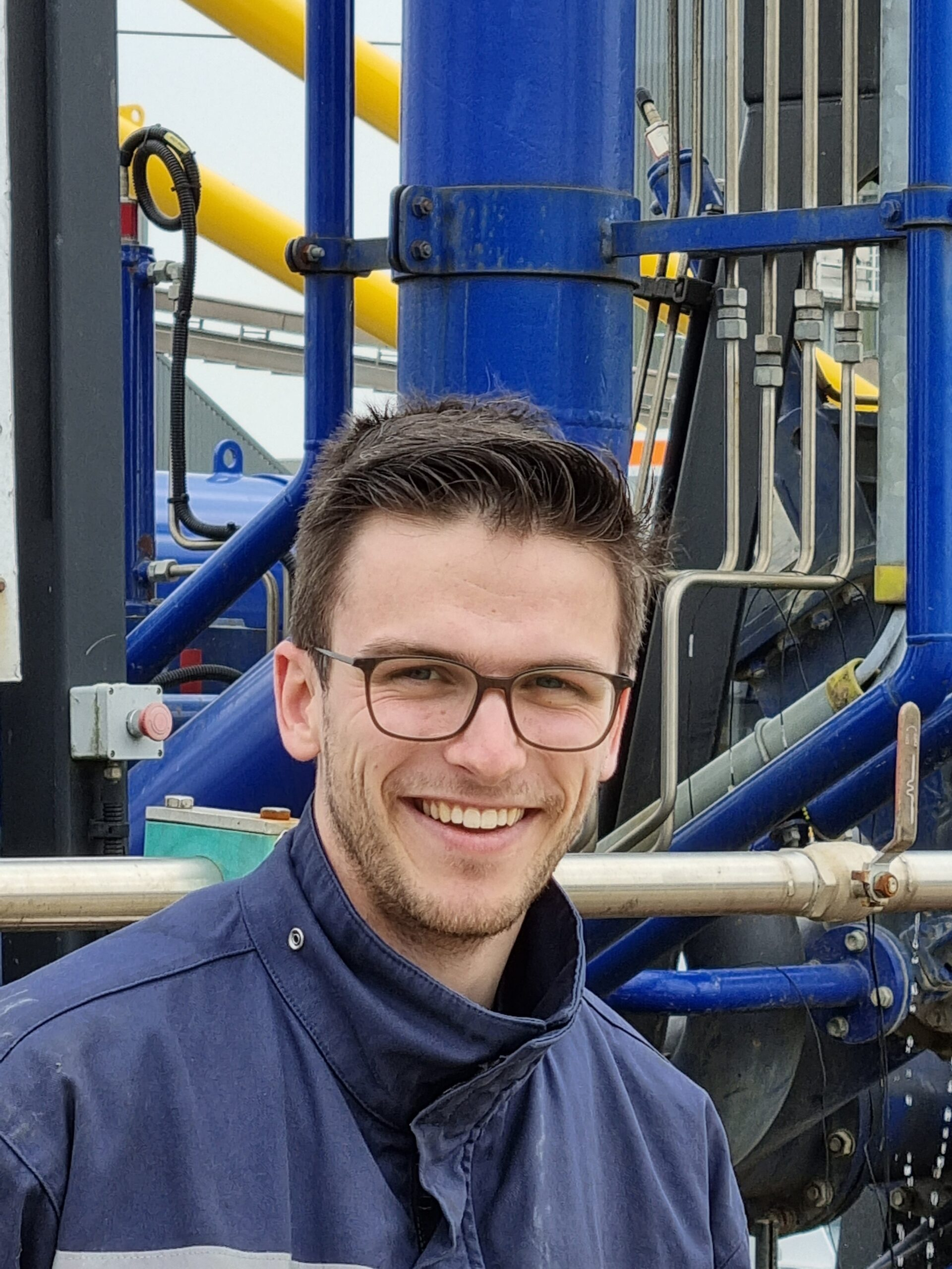 Wim Kleermaker during the practical phase of his graduation in dredging