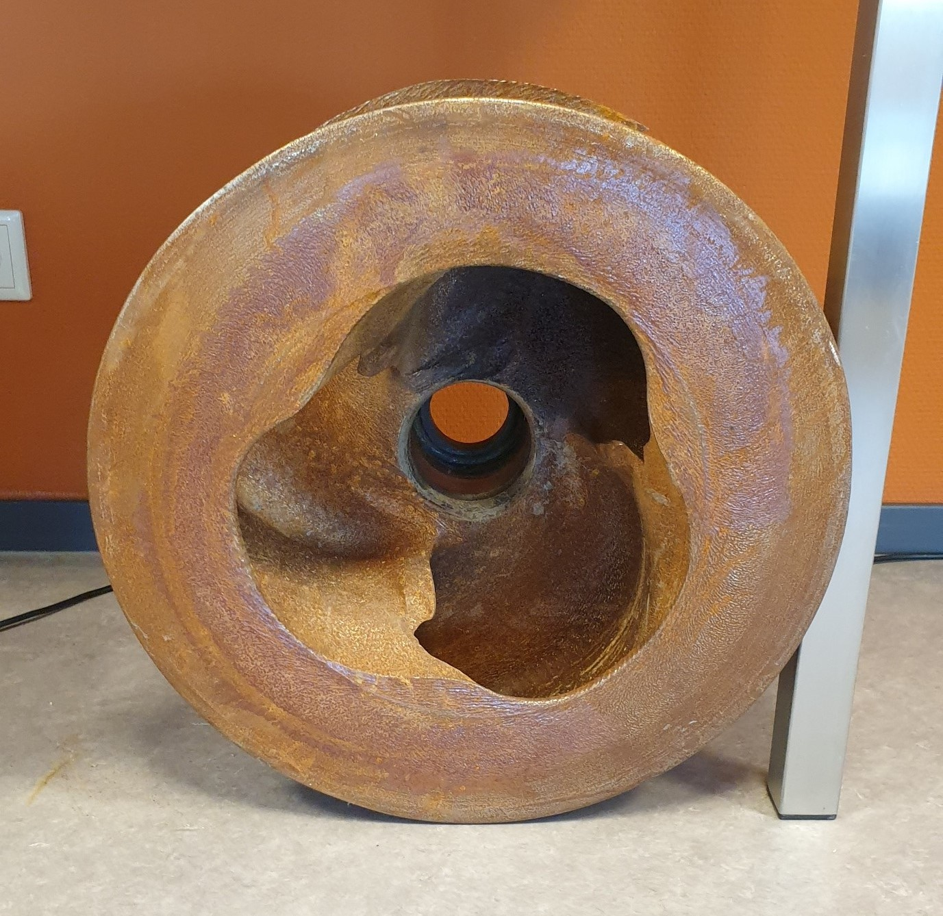Example of a worn impeller at the Damen Dredging Experience